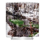 Confused Spring Or Winter Shower Curtain