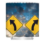 Confusing Road Signs Shower Curtain