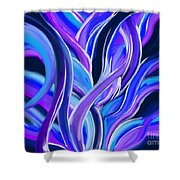 confusion Blue Shower Curtain