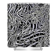 Confusion In Tangles  Shower Curtain