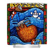 Conga On Fire Shower Curtain