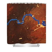Conglomerate Blasphemy Shower Curtain