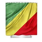 Congo Flag Shower Curtain