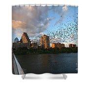 Congress Avenue Bats Shower Curtain