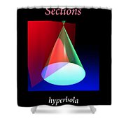 Conic Section Hyperbola Poster Shower Curtain