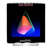 Conic Sections Parabola Poster 6 Shower Curtain