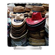 Conical Hats 02 Shower Curtain