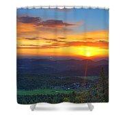 Conifer Sunrise Shower Curtain