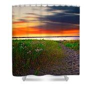 Conimicut Point Beach Rhode Island Shower Curtain