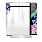 Connected At Heart Shower Curtain