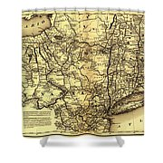 Connecticut And Western Railroad Map 1871 Shower Curtain