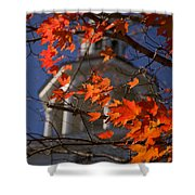 Connecticut Fall Colors Shower Curtain by Jeff Folger