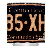 Connecticut License Plate Shower Curtain