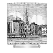 Connecticut Middletown Shower Curtain
