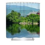 Connecticut River Farm II Shower Curtain