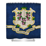 Connecticut State Flag Shower Curtain by Pixel Chimp