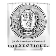 Connecticut State Seal Shower Curtain