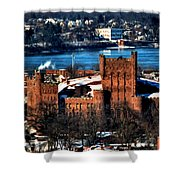 Connecticut Street Armory Winter 2013 Shower Curtain