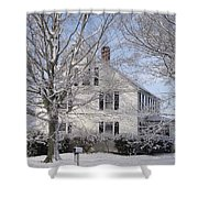 Connecticut Winter Shower Curtain by Michelle Welles