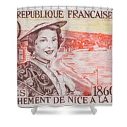 Connecting The Nice France 1860-1960 Shower Curtain