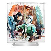 Conquistadores On The Boat In Vila Do Conde In Portugal Shower Curtain