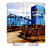 Conrail Choo Choo  Shower Curtain
