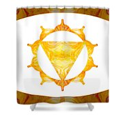 Conscious Spirituality Abstract Chakra Art By Omaste Witkowski Shower Curtain