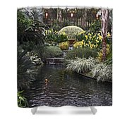 Conservatory In Autumn Shower Curtain