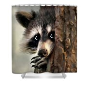 Conspicuous Bandit Shower Curtain by Christina Rollo