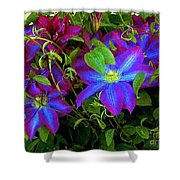 Constance's Clematis Shower Curtain