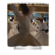Constant Motion  Shower Curtain