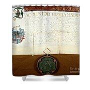 Constantijn Huygens Knighthood 1622 Shower Curtain