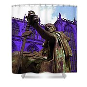 Constantine The Emperor At Yorkminster Shower Curtain