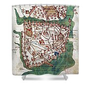 Constantinople, 1420 Shower Curtain