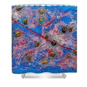Constellation Of Aries Shower Curtain by Augusta Stylianou