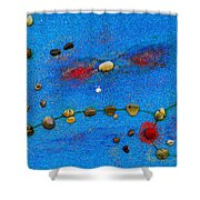 Constellation Of Pisces Shower Curtain