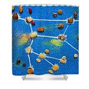 Constellation Of Ursa Major Shower Curtain by Augusta Stylianou