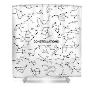 Constellations Shower Curtain by Taylan Apukovska