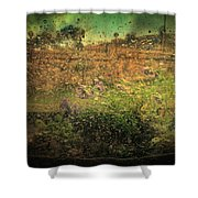 Constrained By Time Shower Curtain