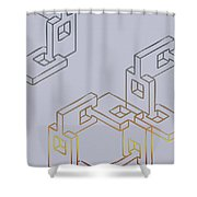 Construct Number Four Shower Curtain