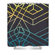 Construct Number Three Shower Curtain