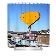Construction Equipment Shower Curtain