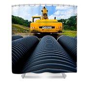 Construction Excavator Shower Curtain
