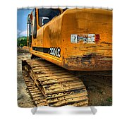 Construction Excavator In Hdr 1 Shower Curtain