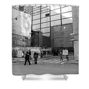 Construction In Black And White Shower Curtain