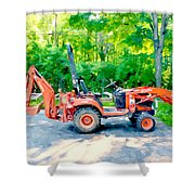 Construction Machinery Equipment 1 Shower Curtain
