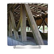 Construction Under The Roof - Jackson Covered Bridge Nh Shower Curtain