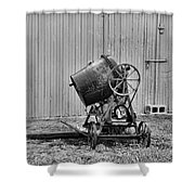 Construction - Vintage Cement Mixer Shower Curtain