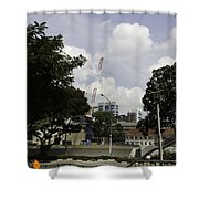 Construction Work Ongoing In Singapore Shower Curtain