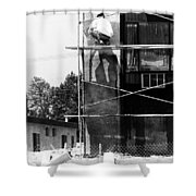 Construction Workers Shower Curtain